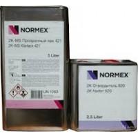 Normex Лак 2К-HS прозрачный лак 5 л.+ 2,5 л. Комплект