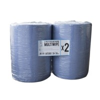 ROXELPRO - Бумажная салфетка mul tiwipe, 2-слойная, рул. 500 шт, 36х38 см, синяя
