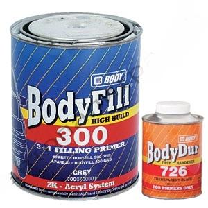 Body 300 Грунт 3+1 серый с отвердителем 1,33 кг, , 10 р., , HB Body, Грунт