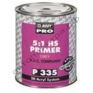 Body 335 PRO Грунт 5+1 серый с отверд. 725 1,2 л, , 10 р., , HB Body, Грунт