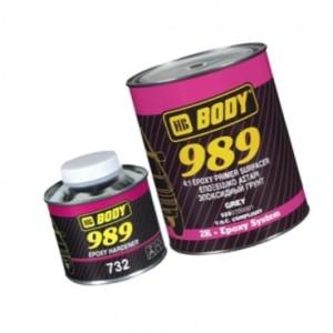 Body 989 Грунт серый с отвердителем 1,25 кг, , 13 р., , HB Body, Грунт