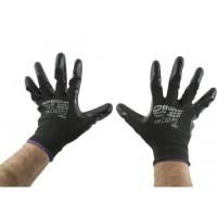 Перчатки AB, для механических работ с PU покрытием 1 пара - черные