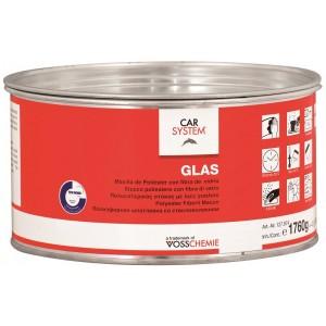 """2К Полиэфирная стекловолокнистая шпатлевка """"Glas"""" зелен., 130854, 485 р., , CarSystem, Шпатлевка"""