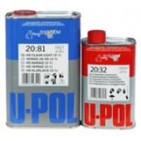 U-POL S2081/1 Двухкомпанентный акриловый лак 1 л + отв. 0,5 л