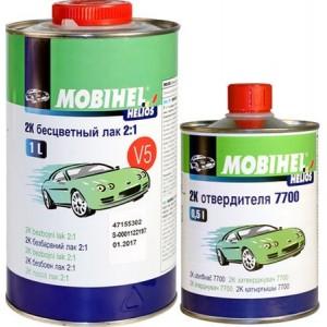 MOBIHEL - 2К V5 2:1 акриловый бесцветный лак (1 л.+ 0,5 л.) комплект