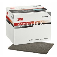 3M 07448 Скотч-брайт ультратонкий (серый), 158 x 224мм