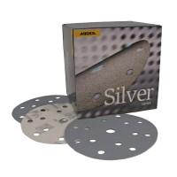MIRKA - Q.SILVER Абразивный круг на бум основе липучка 125мм, 8 отв, упаковка 100 шт.
