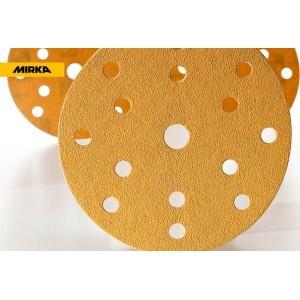MIRKA - GOLD Абразивный круг на бум основе липучка 150мм 15 отв, упаковка