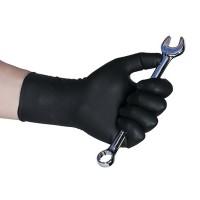 Перчатки нитриловые AB, черные МАГНУМ без талька, уп.50шт