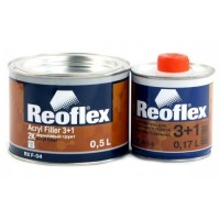 REOFLEX Грунт Акриловый 2К 3+1 серый 0,5 л + 0,17 л