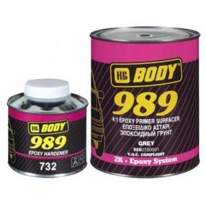 HB Body - Грунт-наполнитель 989 4:1 2К + Отвердитель 732 EPOXY серый комплект