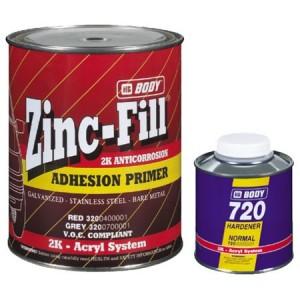 HB Body - Грунт-наполнитель 320 4:1 ZINC-FILL 2К + Отвердитель H725 серый комплект