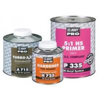 HB Body - Грунт-наполнитель PRO 335 HS 5+1 2К + Отвердитель H725 чёрный комплект