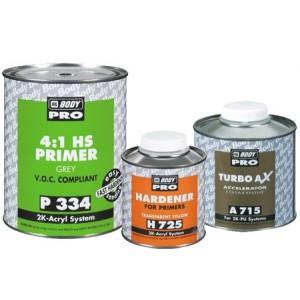 HB Body - Грунт-наполнитель PRO 334 HS 4+1 2К + Отвердитель H725 чёрный комплект