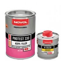 NOVOL PR330 TRIO Грунт 5+1 серый акриловый 1 л + отв. 0,2 л