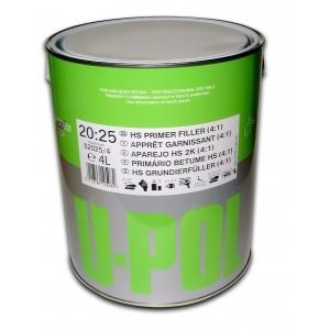 U-POL - S2025 UHS тёмно-серый грунт наполнитель 4:1 (+отвердитель), комплект