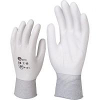 Перчатки AB, для механических работ с PU покрытием 1 пара - белые