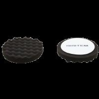 Полировальный круг из поролонa D150 mm T30 mm мягкий черный ребристый Norma 30 black waffle ISISTEM